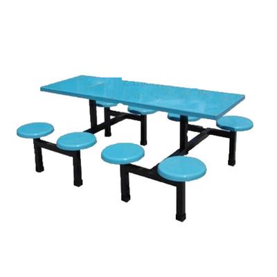 8位塑料固定圆凳餐桌