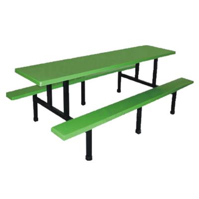 8位塑料固定条凳餐桌