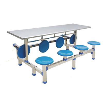 8位玻璃钢翻转圆凳餐桌