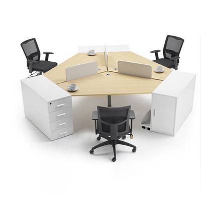 三人位塑料屏风办公桌