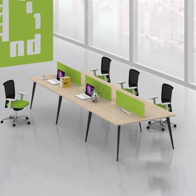 多人塑料屏风办公桌