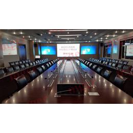 沈阳超薄液晶屏升降器厂家   会议桌升降一体机