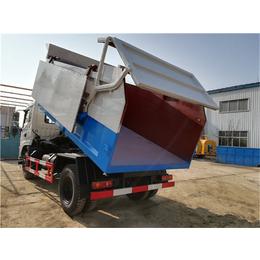 5立方8立方污泥自卸车配置报价-带环保翼展盖