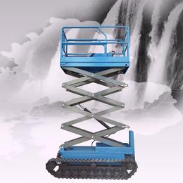 履带升降机 戈壁全自动行走升降车 液压举升机履带自行升降平台