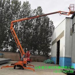 16米升降机 黄石市柴油机驱动升降作业平台 16米曲臂升降车