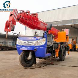 提供全液压三轮吊树机 5吨三轮车吊车 伸缩臂三轮起重机