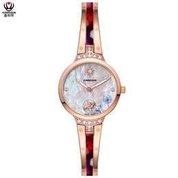 鑫柏琴设计工厂小订单树脂镶钻饰品女款手表受欢迎产品