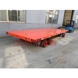 30吨厂区板车亚博国际版厂内大型平板拖车实心轮胎
