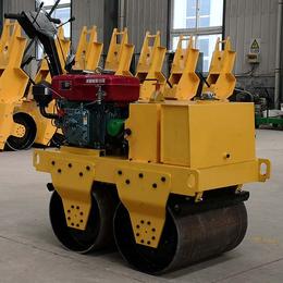 厂家直销手扶式600轮宽双驱双钢轮震动压路机