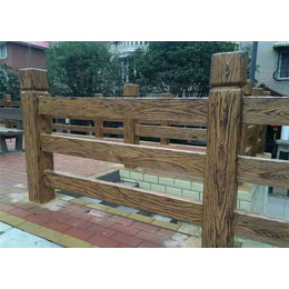 仿木护栏-泰安压哲护栏模具-混凝土仿木护栏qy8千亿国际