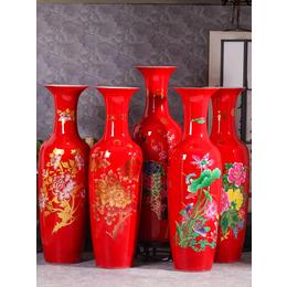 办公楼大厅陈设大花瓶 景德镇手绘陶瓷大花瓶大型摆件