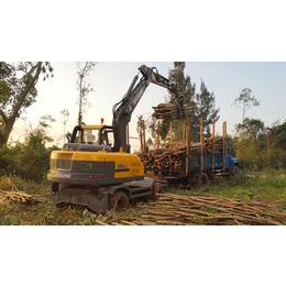 抓木機質量已成輪式挖掘機抓木機車型掙錢的主要因素
