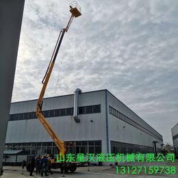 和田市高架管道維修液壓升降車 18米升降機 曲臂升降平臺報價
