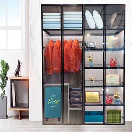 全铝整体衣柜家具型材 铝合金卧室衣柜现货供应厂家直销批发定制