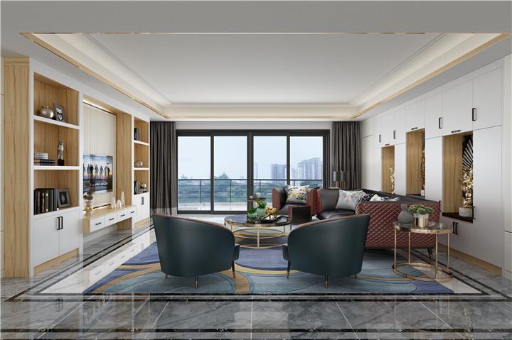 全屋家具定制嵌入式现代客厅柜