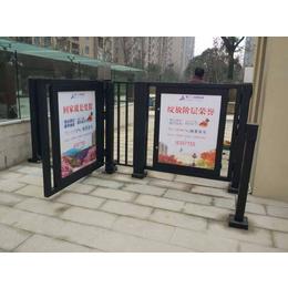 洛阳 小区门禁 广告平开门平移门厂家