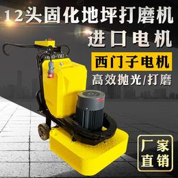 供应四盘十二磨头研磨机 固化剂地坪打磨机操作简单