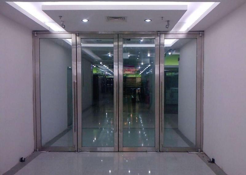 玻璃感应门 内置立式地弹簧 方便安全