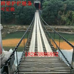 鲁兴护栏链条施工方案 护栏铁链牢固连接 护栏跟铁链固定