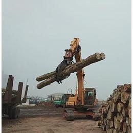 小松200挖机改装木材装卸夹木器