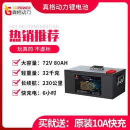 72V80AH电动车锂电池 真动力230公里续航送10A快充