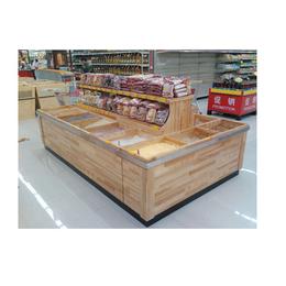 小型生鲜货架定做-生鲜货架定做-泰安华盛木质货架(查看)