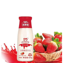 欧慕斯发酵酸奶饮品草莓味