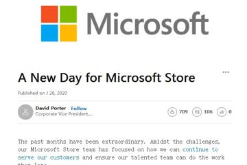 微软永久关闭实体门店,微软保留四家体验中心,微软副总裁David Porte,